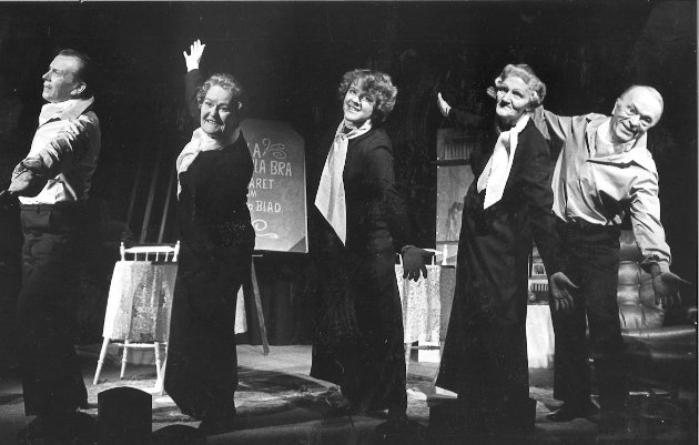 """Fra arkivet. Teater og revy. Haugesund Nynorske Teater. 1979 """"Musefella"""""""