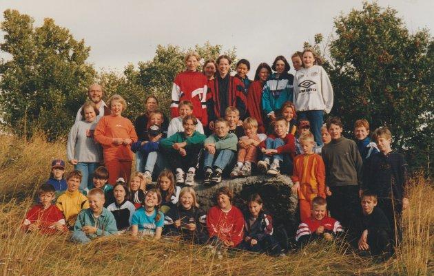 Klasse 7A og 7B på Bøstad skole.