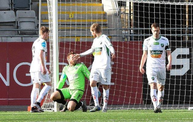 HAR IKKE LEVERT: HBK-spillerne her representert ved Marko Jankovic, Asgeir  Ingolfsson, Joakim Rishovd og Alexander Pedersen har ikke levert godt nok i år.