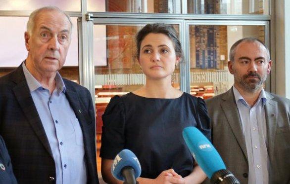 ENIGE : Stanley Wirak (Ap), Kari Nessa Nordtun (Ap) og Tom Sletthei (Frp) vil ha en forbedring av tiltakspakken. Foto: Frode Olsen