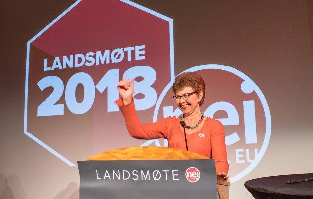 Kathrine Kleveland, leder i Nei til EU, svarer her på et innlegg som Nina Solli, regiondirektør i NHO Viken Oslo, hadde på trykk på sa.no 16. november. (Foto: Nei til EU)