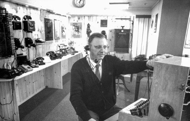 Televerket: Kåre Helgestad, driftssjef  i Odda, oktober 1991.