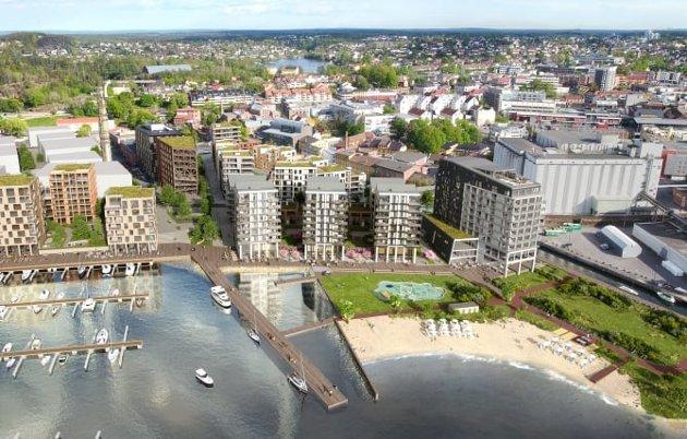 For alle: Badeparken ved Rabben skal være for hele byens  befolkning og stå ferdig i 2023.