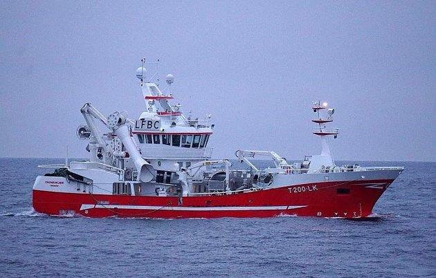 Her er MS Trondskjær — praktfartøyet til Oddvar Nes AS i Botnhamn.