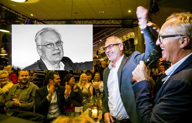 Valg 2019: Arbeiderpartiet og Rune Høiseth var de store vinnerne i 2015-valget, og ble hyllet på Sanden scene valgnatta. Nå håper Reidar Bergene Holm på politikere som kan samles om langsiktige mål