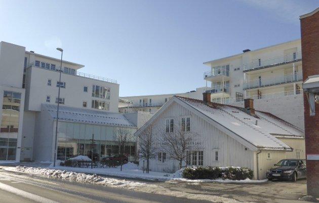 Skippergata 6: et godt eksempel på hvordan gamle hus kan myke opp både gateløp og byens funksjoner. Foto: Elin Syrdahl