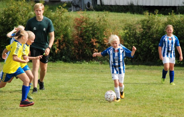 En SFK-spiller i godt driv i kamp mot Navestad.