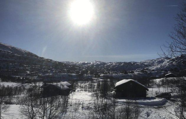 Maritim forums rapport 2019:  Peker i retning av lysere tider. Utsyn fra Vågslid mot Sæsnuten i Setesdalsheiene.