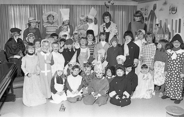 Melløs barnehage, karneval i 1978.