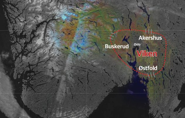 Viken: Innsenderen mener sammenslåingen av  Buskerud, Akershus og Østfold er en skandale av dimensjoner.  Illustrasjon: RB/Kart: Norkart