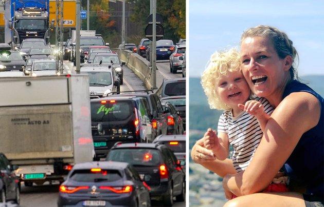 REAGERER: Eili Vigestad Berge synes at politikerne i Oslo ikke har gjort det de kan for å fjerne trafikken fra nabolaget der hun bor med blant annet datteren Anna Vigestad Brasøygård.