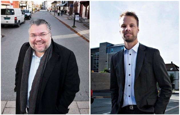 SVARER LASSE HAUGEN: Frps Morten Wold og Jon Helgheim.