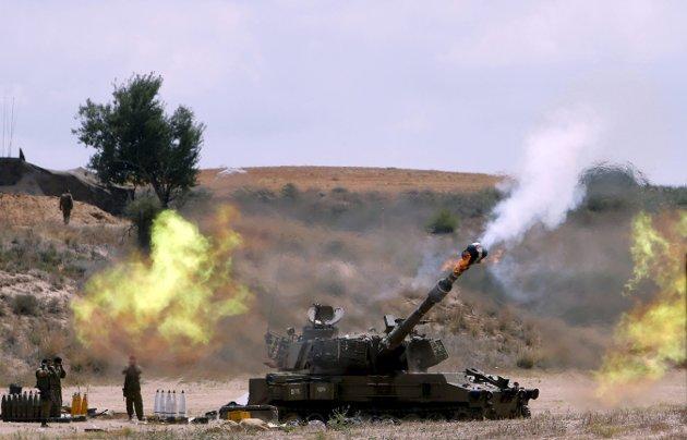 Arkivbilde: Israelsk artilleri ved Gaza-stripen