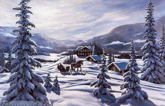 Hjem: Er det ikke slik vi husker jul i riktig gamle dager?