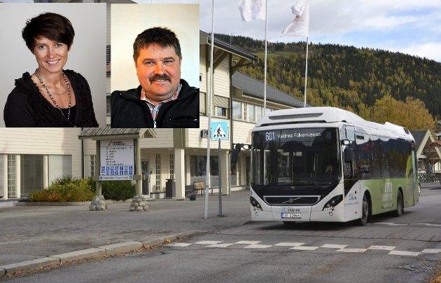 Innlandet: Aud Hove og Haldor Ødegård, Fylkesordførar og representant for Utval for samferdsel, Innlandet fylke.