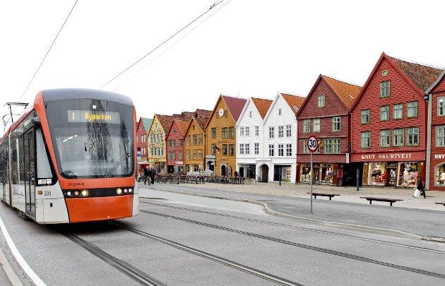 Ja eller nei til bybane over Bryggen?