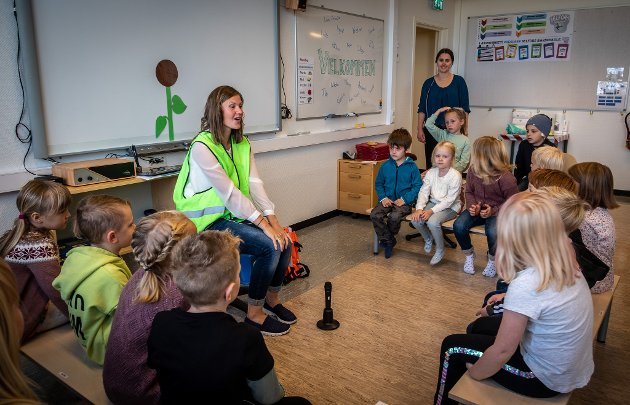 Skolestart for årets 1.klassinger ved Selfors barneskole.