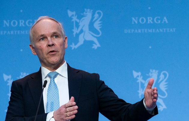 OSLO, NORGE 20210212.  Finansminister Jan Tore Sanner  under fremleggelsen av regjeringens perspektivmelding. Foto: Berit Roald / NTB