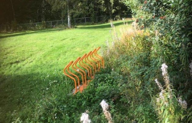 NØDVENDIG?: – Kan det være nødvendig med to sykkelstativ til cirka 80.000 kroner i Bassengparken? spør artikkelforfatteren.
