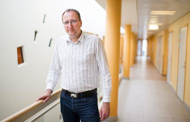 Ståle Skjønhaug på Hvelven sykehjem.