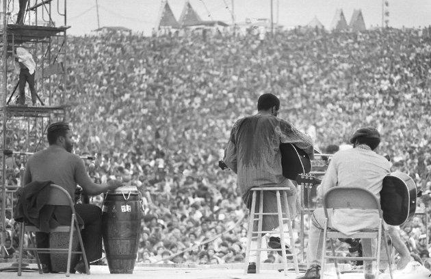 Tre dager med artister: Richie Havens var en av artistene som spilte foran folkehavet på flere hundre tusen som tilbragte denne augusthelgen for 50 år siden på Woodstock. Alle foto: Scanpix