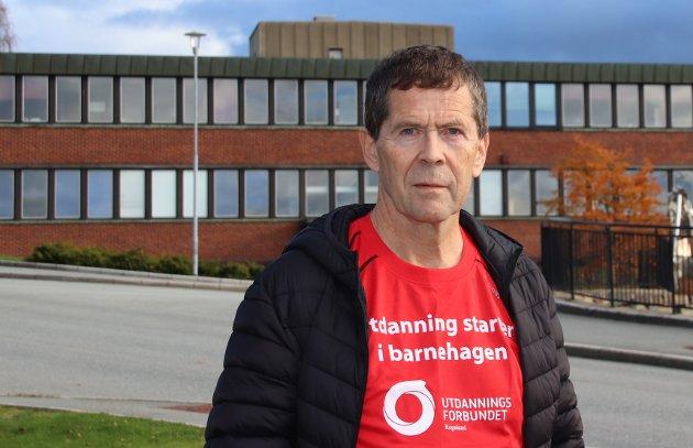 INNLEGG: Hovedtillitsvalgt Sveinung Fjelde i Utdanningsforbundet i Strand forteller i innlegget om hvilke saker fagforeningen arbeider med for tida.