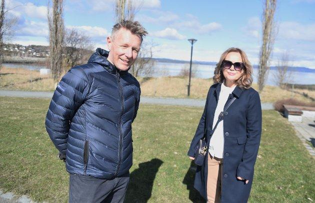 UTFORDRING: Nestleder Espen Leirset og leder Tone Wanderås i Levanger Ap vil at de trønderske kommunene også skal stå opp mot utenlandske aktører som ikke vil innrette seg etter den norske arbeidslivsmodellen, slik som Levanger vedtok i fjor.