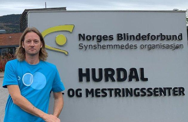 Martin malkenes,  Norges Blindeforbunds syns-og mestringssenter på Hurdal
