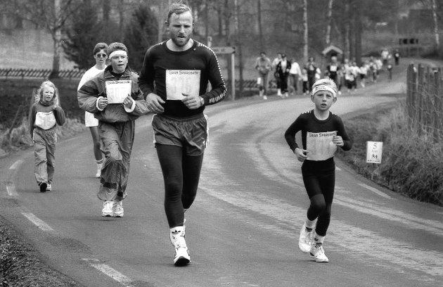 1993: Viggaløpet har alltid vært et løp for liten og stor.