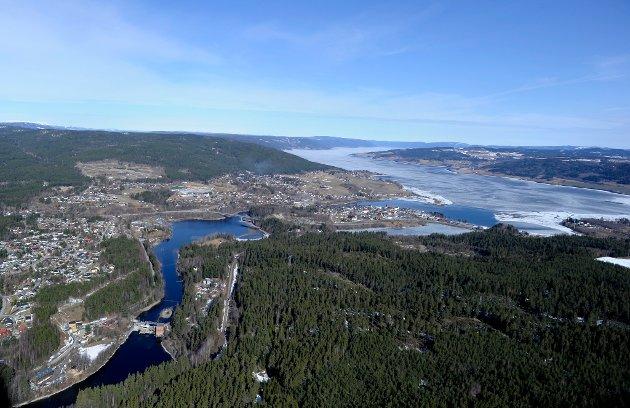 Flyfoto over Jevnaker.