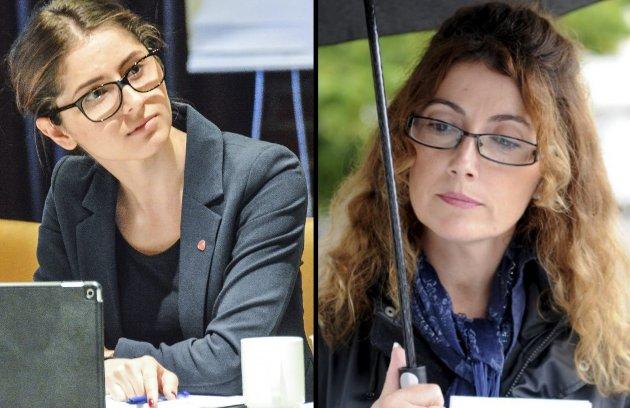 LOKALPOLITIKK: Likevel velger Høyre-politiker Anita Miric (t.h. på bildet) å vri på budskapet og går til direkte personangrep på opposisjonsleder Håkonsen, skriver Lozan Balisany (t.v.).
