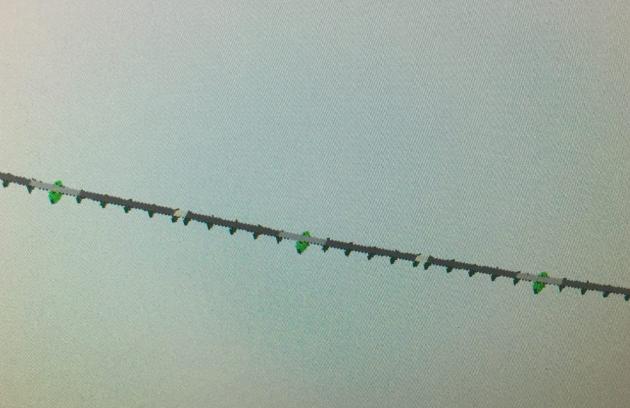 Flytebro med fleksible ledd.