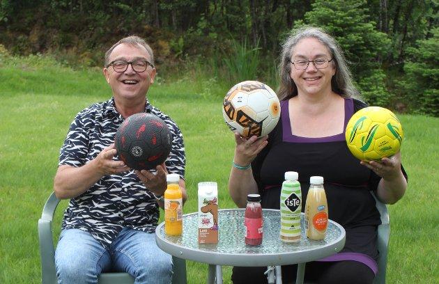 Leiar Per-Arne Lillebø og nestleiar Hjørdis Almelid Vikenes i IOGT Region Midt Norge vil ha alkoholfri drikke på fotballkampar - til barna sitt beste.