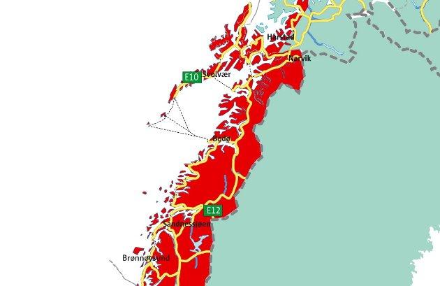 Troms til Nordland: Det beste ville være å trekke grensa nord for Lavangen, sånn at en del av Troms kommer til Nordland, og det dermed blir to regioner i Nord-Norge, mener kronikkforfatteren.