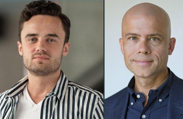 MÅ TA VARE PÅ STUDENTENE: Preben Reinaas Rotlid og Lars-Petter Jelsness-Jørgensen, studentleder og rektor ved Høgskolen i Østfold, Halden og Fredrikstad, er opptatt av studentenes psykiske helse.