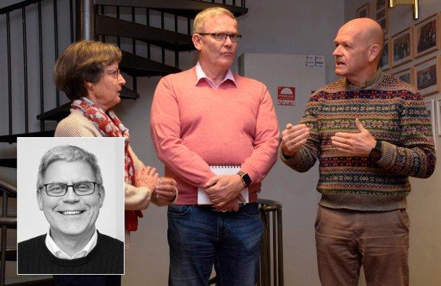 MÅ FORHANDLE: Syver Leivestad (H), Tom Olsen (Ap) og Kristin F. Bjella (Sp) må forhandle om hvem som skal styre Hole.