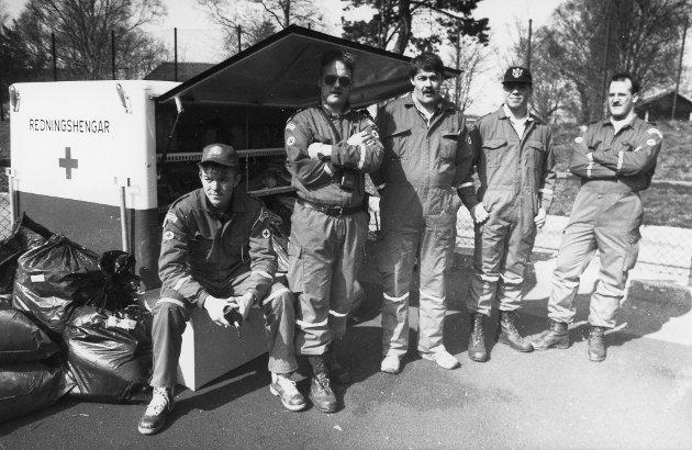 Flora Røde Kors Hjelpekorps var vakt under Rett Vest i april 1992.
