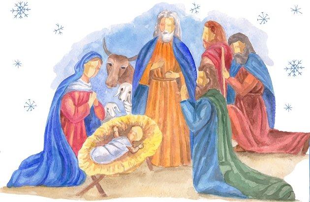 Favoritt i barndommen: – De mange versene i «Et barn er født i Betlehem» favner både fortellingen om det som skjedde den gangen og betydningen det har for oss og våre liv, skriver Atle Sommerfeldt. Tegning: Colourbox
