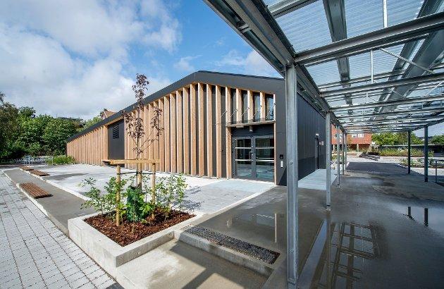 Nytt bygg: Musikkrom, grupperom og auditorium har fått plass i det som blir kalt midtbygget på Gressvik ungdomsskole.