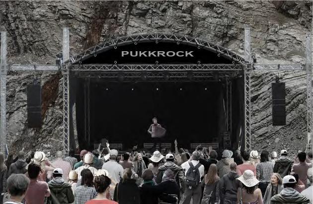 Utescene for konserter med - som i eksempelet her - Odd Nordstoga der det er pukkverk i dag, kanskje.