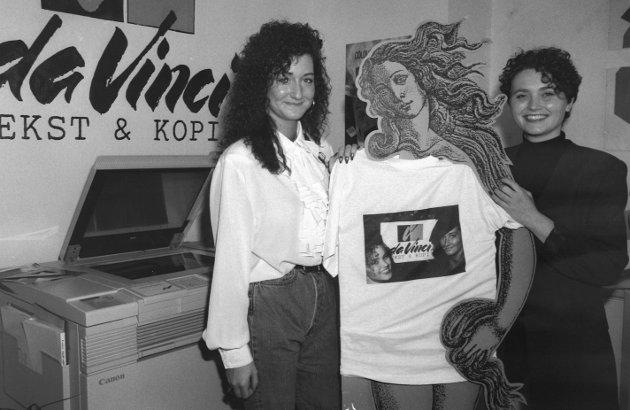 Da Vinci, 1994: Tanya Thorstensen og Nina Johnsrød.