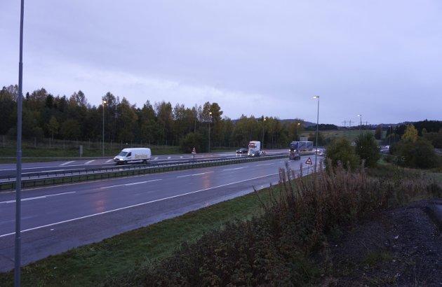 Det var glissent på E6 ved Olavsgård i retning inn mot Oslo i 08.30-tida i går