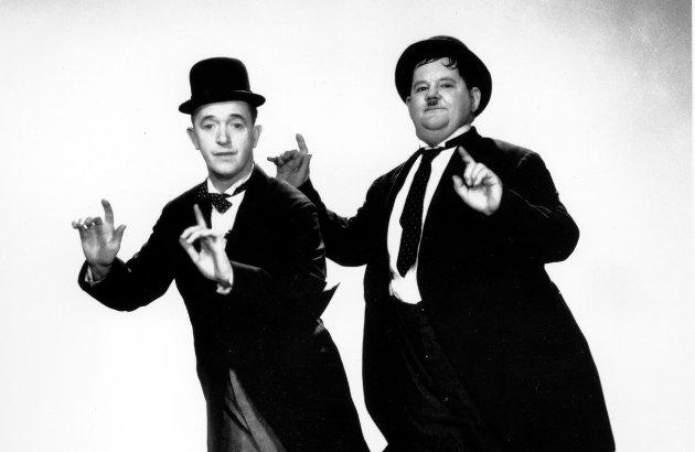 HELAN OG HALVAN: Skuespillerne Stan Laurel and Oliver Hardy fotografert i 1936.