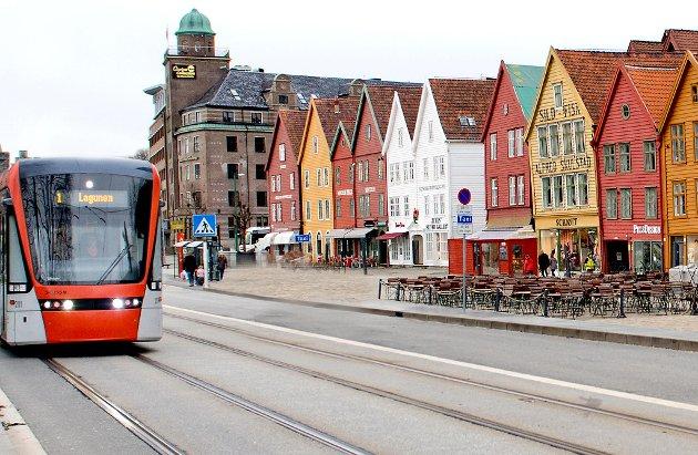 Hvem vil ha Bybanen over Bryggen?