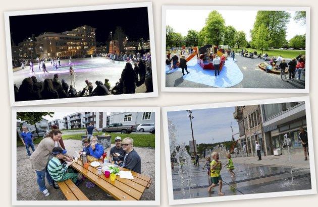 Innertier: Isbanen på Værste, Stortorvet, Trosvik torv og kirkeparken har alle blitt vellykkede møteplasser. De er viktige for totalopplevelsen av å leve og bo i Fredrikstad.
