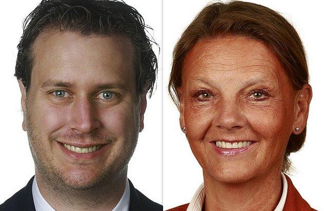 Brevforfatterne Helge Andrè Njåstad (Frp) og Ingjerd Schou (Høyre) ser seg mektig lei på måten Stein Erik Lauvås (Ap i Østfold) fremstiller kommuneøkonomien under dagens regjering.