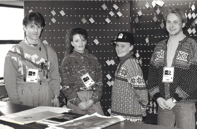 NØKKEL: Frode Wilhelmsen (til venstre), Heidi Tatjana Johnsen, Anita Læhren og Stian Hennie jobbet i nøkkel-ekspedisjonen under OL.