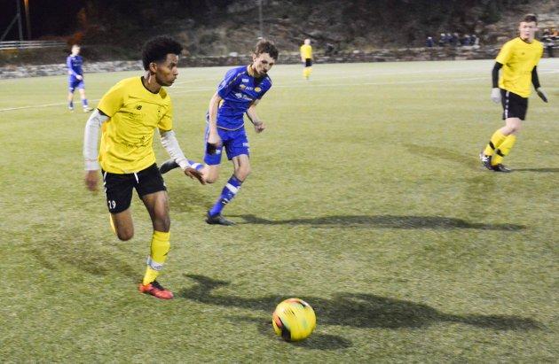 Ahmed Yassin Hamid (19) var meget god på Kragerøs midtbane.