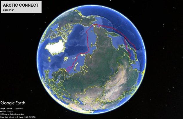 Illustrasjonsfoto fiberkabelprosjektet Arctic Connect