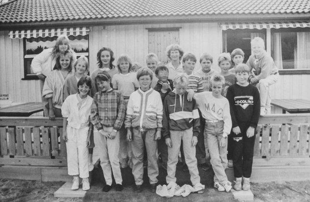 Disse elevene ved Hagen skole ble avbildet i 1986.